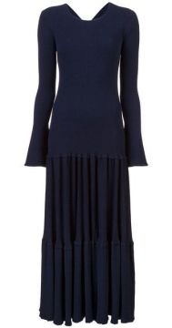 Pleated Knit Dress - Carolina Herrera