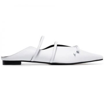 d733e2f5a93 White Abel Bow Embellished Slipper - Yuul Yie