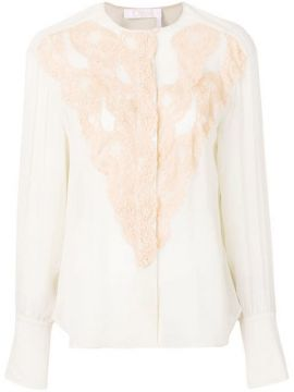 Lace Detailed Sheer Blouse - Chloé