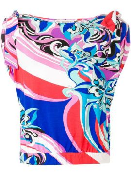 Abstract Print Ruffled Blouse - Emilio Pucci