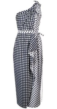 Polka-dot Asymmetric Dress - Carolina Herrera