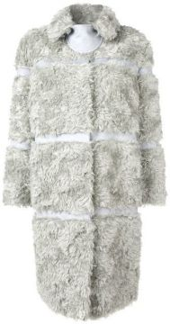 Faux Fur Panelled Coat - Bottega Veneta