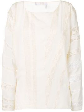 Embroidered Paneled Blouse - Chloé