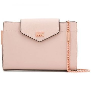 Logo Plaque Clutch - Michael Michael Kors