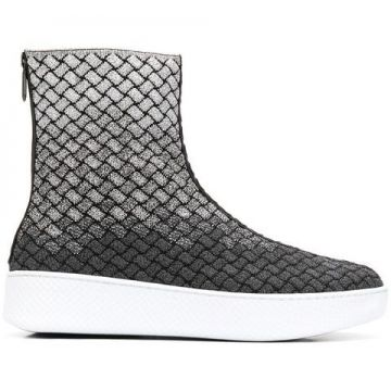 Bota intreciatto De Lurex  - Bottega Veneta