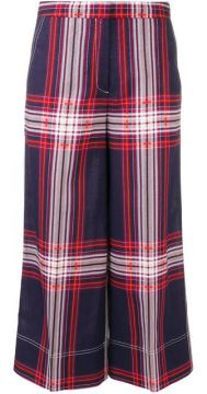 Plaid Cropped Trousers - By Malene Birger