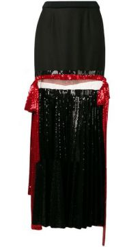 Pleated Sequin Maxi Skirt - Atu Body Couture