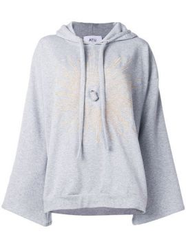 Oversized Crystal Hoodie - Atu Body Couture