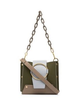 Green Delilah Chain Cross Body Bag - Yuzefi