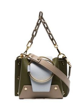 Green Delilah Mini Chain Cross Body Bag - Yuzefi