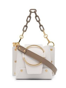 White Delila Mini Chain Cross Body Bag - Yuzefi