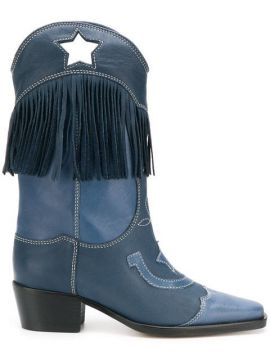 Tove Western Style Boots - Ganni