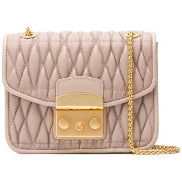 Metropolis Cometa Quilted Cross Body Bag - Furla