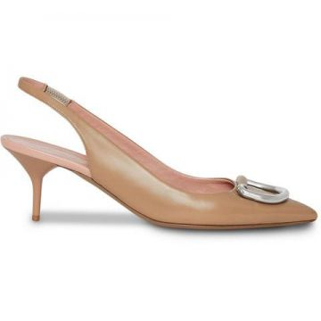 The Patent Leather D-ring Slingback Pump - Burberry