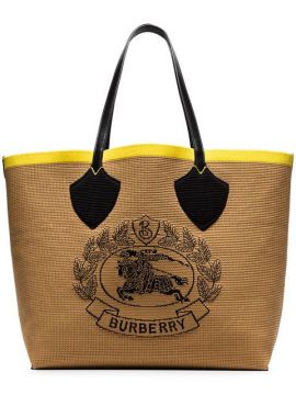 Beige Giant Fabric Tote Bag - Burberry