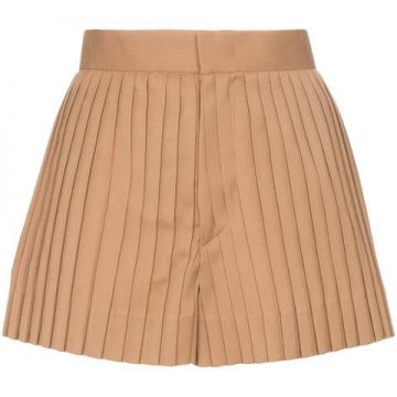 High Waisted Pleated Wool Short - Blindness