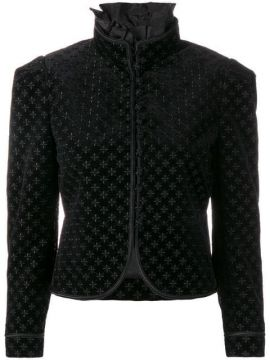 Embroidered Cropped Jacket - Saint Laurent