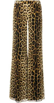 Leopard Print Trousers - Moschino