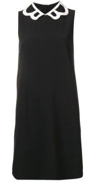 Contrasting Collar Dress - Boutique Moschino
