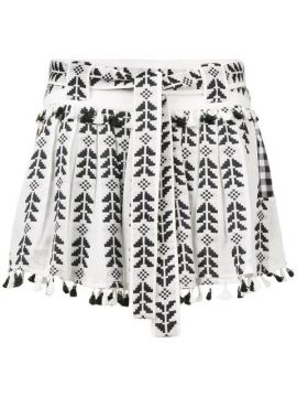 Ariana Ethnic Embroidered Skirt - Dodo Bar Or