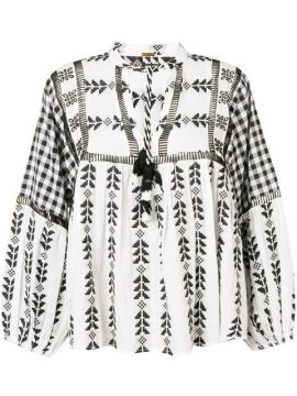 Miguel Ethnic Embroidered Blouse - Dodo Bar Or