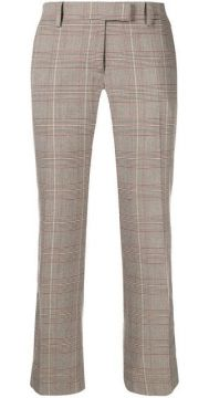 Checked Cropped Trousers - Roqa