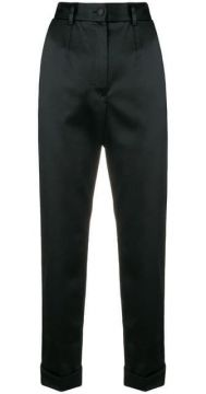 High-waisted Cropped Trousers - Dolce & Gabbana