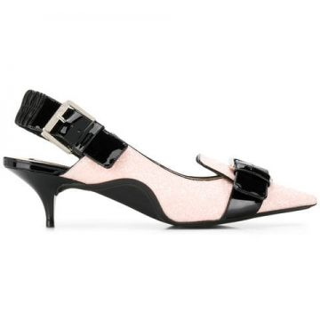 Buckle-detail Kitten Heels - Nº21