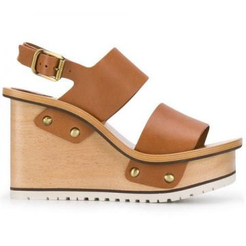 Buckle Wedge Sandals - Chloé