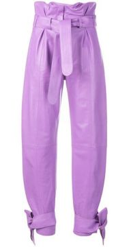 Cropped Paperbag Trousers - Attico