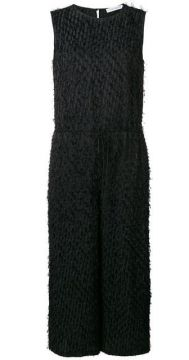 Fringed Textured Jumpsuit - Christian Wijnants