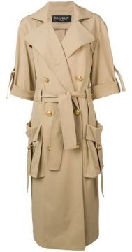 Double Breasted Trench Coat - Balmain