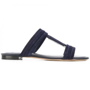 Double T Strap Sandals - Tods