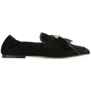 Feather Appliqué Loafers - Tods