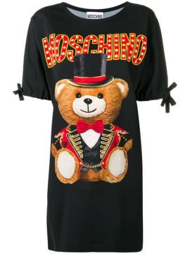 Circus Teddy Bear T-shirt Dress - Moschino