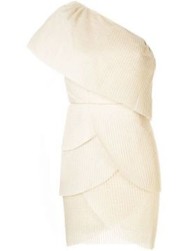 Pleated Layered One Shoulder Dress  - Aje