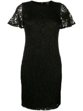 Fitted Lace Dress - Dkny
