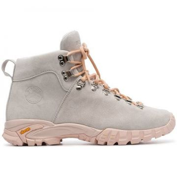 Grey Maser Lace Up Suede Hiker Boots - Diemme