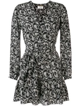 Bandana Print Dress - Saint Laurent