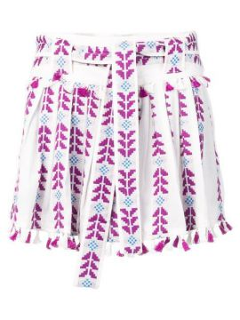 Embroidered Pleated Skirt - Dodo Bar Or