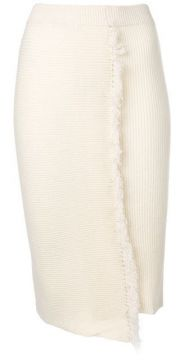High-waisted Fringed Skirt - Cashmere In Love