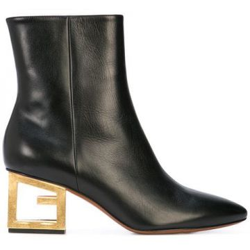 Gold G Heel Boots - Givenchy