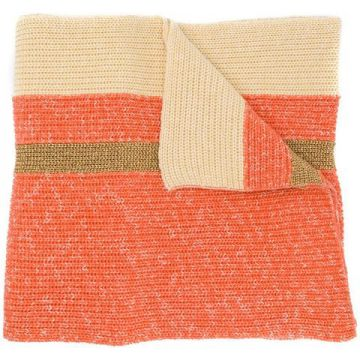 Oversized Striped Scarf - Cashmere In Love