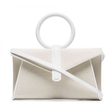 Neutral Valery Mini Leather And Cotton Cross Body Bag - Comp