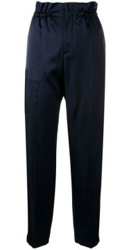 High-waisted Paperbag Trousers - Closed