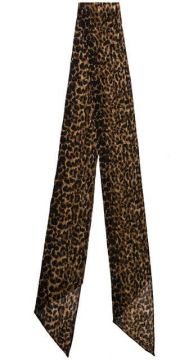 Echarpe Com Estampa Leopardo - Saint Laurent