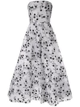 Embroidered Strapless Gown  - Bambah