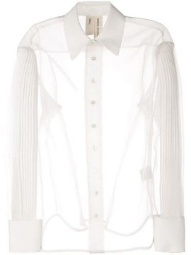 Pleated Sleeve Sheer Shirt - Bodice Studio