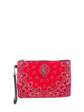 Quilted Bandana Clutch - Saint Laurent