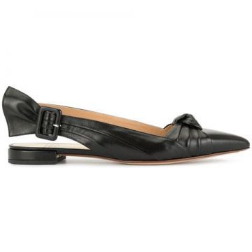 Leather Ballerina Shoes - Francesco Russo